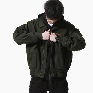 二十八间春季日系复古潮流男外套空军绣花飞行员街头宽松朋克夹克上衣外套男