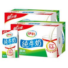 【天猫超市】伊利牛奶伊利纯牛奶250ml*24*2双提装无菌砖包装