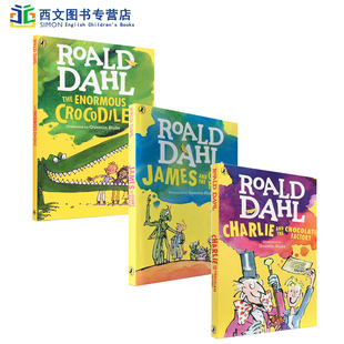 英文原版小说书Roald Dahl charlie and the chocolate factory the Enormous Crocodile/查理与巧克力工厂JAMES AND GIANT PEACH