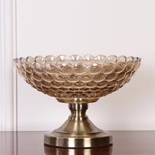 饰器皿家居饰品水晶玻璃水果盘 高档欧式奢华新古典果盘茶几摆件装