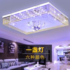 客厅灯 长方形led吸顶灯水晶灯餐厅卧室灯现代简约大气灯具灯饰+