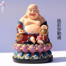 树脂彩绘弥勒佛像开口笑佛未来佛大肚佛布袋和尚佛堂供奉佛像摆件