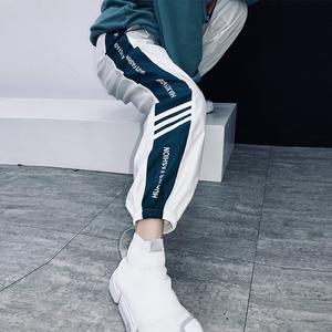 M家女生帅气裤子嘻哈<span class=H>潮流</span>个性直筒裤女2018新款bf宽松休闲裤束脚