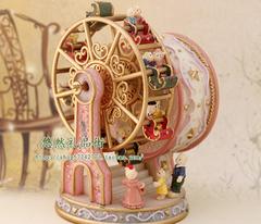 出口外贸 幸福摩天轮音乐盒 创意情人节生日礼物女孩子天空之城