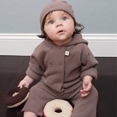 davebella 春秋季 超细柔软舒适摇粒绒宝宝分体套装/婴儿套装 D22