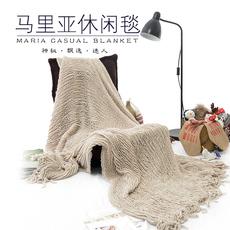 午睡毯盖毯出口欧美正品休闲毛毯沙发毯子披肩装饰毯新生儿拍照毯