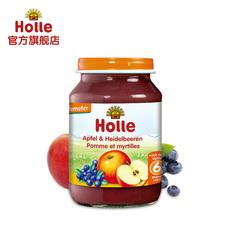 Holle欧洲原装进口婴幼儿辅食 苹果蓝莓泥190g*1瓶 2018.12.3到期