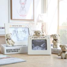 树脂可爱儿童小熊相框4寸6寸像框摆台 米子家居 纳尼亚熊Baby相框