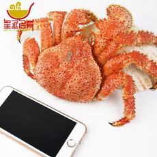 【多买多送】智利进口熟冻红毛蟹300-400克 帝王蟹肉质饱满包邮