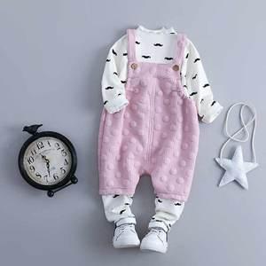 女宝宝春装两件套0-1-2-3-4半岁婴儿背带裤套装韩版童装新款潮装儿童套装