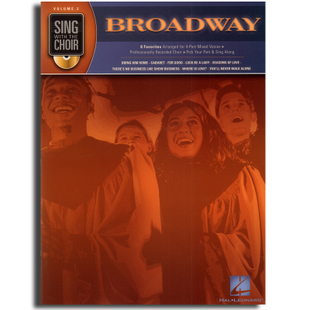 正版 Sing with the Choir  Volume 2 Broadway