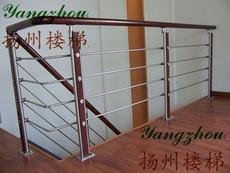 扬州楼梯玻璃/楼梯扶手实木栏杆阳台护栏/不锈钢楼梯立柱拉丝围栏