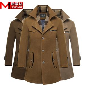 男士秋冬季加厚保暖中长款羊毛呢子大衣韩版修身休闲风衣男装外套