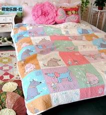 特价全棉斜纹卡通儿童被 单人空调夏凉绗缝床盖 婴儿抱被 纯棉