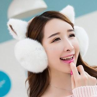 2016韩版时尚可爱耳罩女士冬季保暖猫耳朵耳套学生护套暖毛绒耳捂