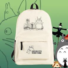 宫崎骏卡通系列 龙猫周边男女双肩包 动漫中学生书包可爱旅行背包
