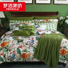 梦洁家纺正品四件套纯棉床上用品全棉1.8m床单被套特价 梦雨芬芳