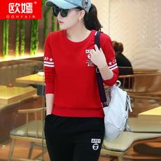 运动套装女春装新款大码女装卫衣套装跑步两件套休闲套装运动服女