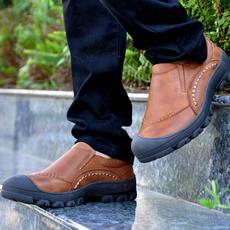 NIAN JEEP男鞋时尚潮流大头鞋男登山鞋吉普盾头层皮户外休闲鞋子