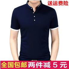 时尚新款夏季男短袖t恤 韩版修身流行半袖T恤 青年纯色POLO衫潮男