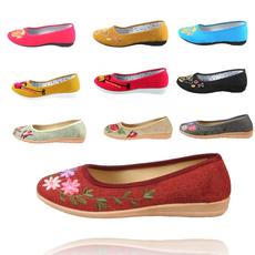 特价包邮低帮老北京布鞋 女鞋 休闲布鞋 绣花鞋 软牛筋底舒适单鞋