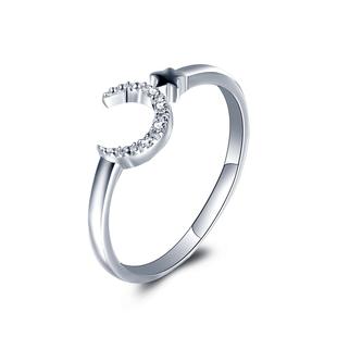 18K金小清新钻戒白金钻石戒指定制玫瑰金钻石女戒男女婚戒正品