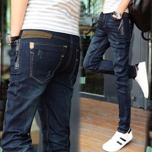 春季款青少年牛仔裤男小脚修身型韩版潮流弹力男士牛仔长裤子冬季