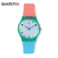 专柜正品斯沃琪 Swatch 手表2015 撞色设计男女表糖果 殿堂GG219