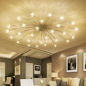 现代简约卧室灯创意个性客厅书房满天星吸顶灯北欧艺术儿童房灯具吸顶灯