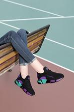 休闲平底老爹女鞋 韩版 女ins百搭潮冬季2018新款 加绒运动鞋 跑步鞋