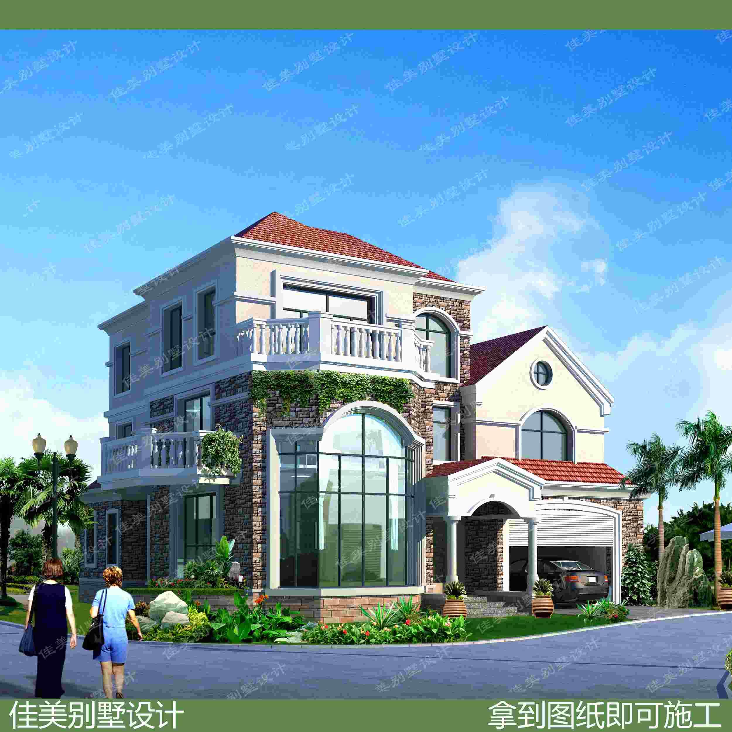 农村楼房子设计图自建房别墅设计图纸三层现代欧式设计施工图全套图片