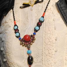 陶瓷饰品 江南风格毛衣链波西米亚长款配饰饰品首饰民族风女项链