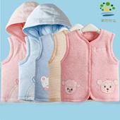 儿童马甲秋冬款加厚保暖男童女童宝宝连帽小马夹外穿婴儿冬季衣服