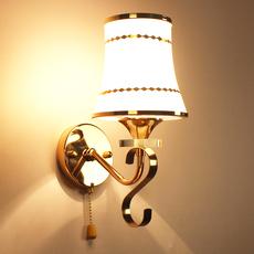 简约现代水晶壁灯 卧室温馨床头灯 客厅过道楼梯拉线开关灯饰灯具