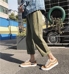 阔腿裤女2018新款 夏装日系复古直筒工装裤中性bf风宽松<span class=H>潮流</span>长裤
