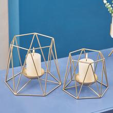 现代北欧风几何烛台装饰摆件客厅卧室家居摆设简约服装店蜡烛饰品