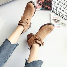 小皮鞋女英伦风秋冬粗跟高跟女鞋百搭韩版2018新款加绒学生单鞋潮