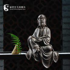 德化陶瓷佛像摆件风水/镇宅/辟邪家居饰品工艺品禅意如意披坐观音