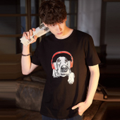 唐狮2018夏装新款短袖T恤男韩版潮流印花青少年男士纯棉打底衫