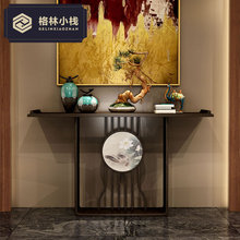 玄关台靠墙桌中堂条案新中式实木仿古供桌玄关桌禅意酒店别墅家具