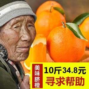 正宗新宁崀山纽荷尔脐橙子当季新鲜水果手剥橙胜赣南脐橙10斤批发橙子水果