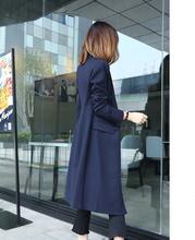 风衣外套女装中长款袖大码2018春秋季新款收腰西装韩版修身显瘦潮