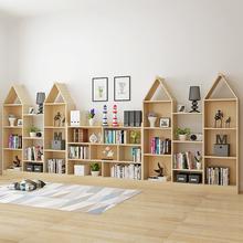 实木儿童简易书柜书架落地创意储物收纳柜幼儿园组合柜置物柜宜家