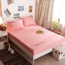 天天特价纯色床单床笠席梦思保护套床罩防滑床垫套1.2m1.5m1.8米