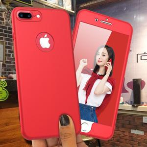 UMGG苹果7手机壳全包iphone7 plus保护套8Plus防摔360硬壳红六6