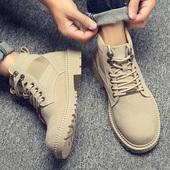 马丁靴男夏季透气英伦百搭高帮鞋子男工装潮鞋沙漠短靴子中帮男鞋