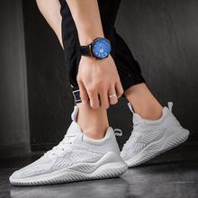 男鞋新款夏季透气网面运动鞋男女跑步鞋飞织男士情侣鞋子男休闲鞋