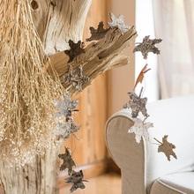 掬涵 实木装饰挂串 白桦木造型挂饰 拍摄道具 圣诞饰品花环DIY