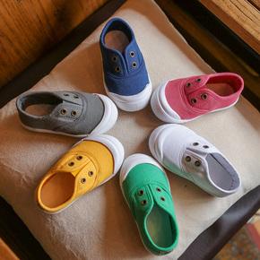 男童帆布鞋2019秋装春秋季新款童鞋小童儿童宝宝运动板鞋鞋子女童
