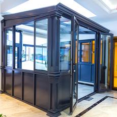 罗普斯金门窗定制别墅木铝包木玻璃隔音窗户实木封阳台防盗平开窗